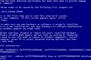 ATAPORT.SYS BSOD Virus Fix